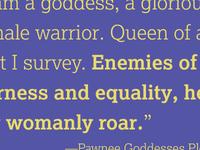 Pawnee Goddesses Pledge