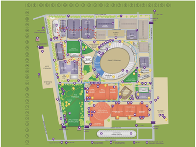Sydney Royal EasterShow - Custom Map 2021 map for website digital map android map ios map apple maps apple map google maps navigation wayfinding gis custom maps custom map