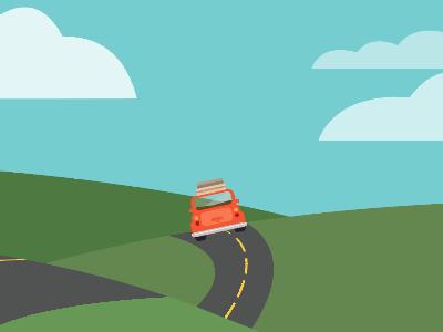 Beep Beep! spicewagon road trip design color flat design illustration