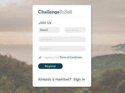 Daily UI 001 card form signup challenge ui app web design dailyui
