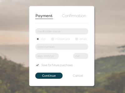 Daily UI 002 credit card payment card form challenge ui app web design dailyui