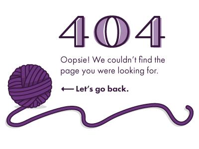 Daily UI 008 typography color yarn kittens 404 challenge ui design dailyui