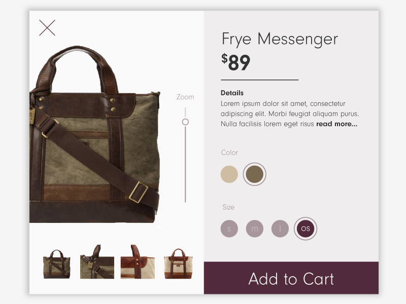 Messagner bag dribbble