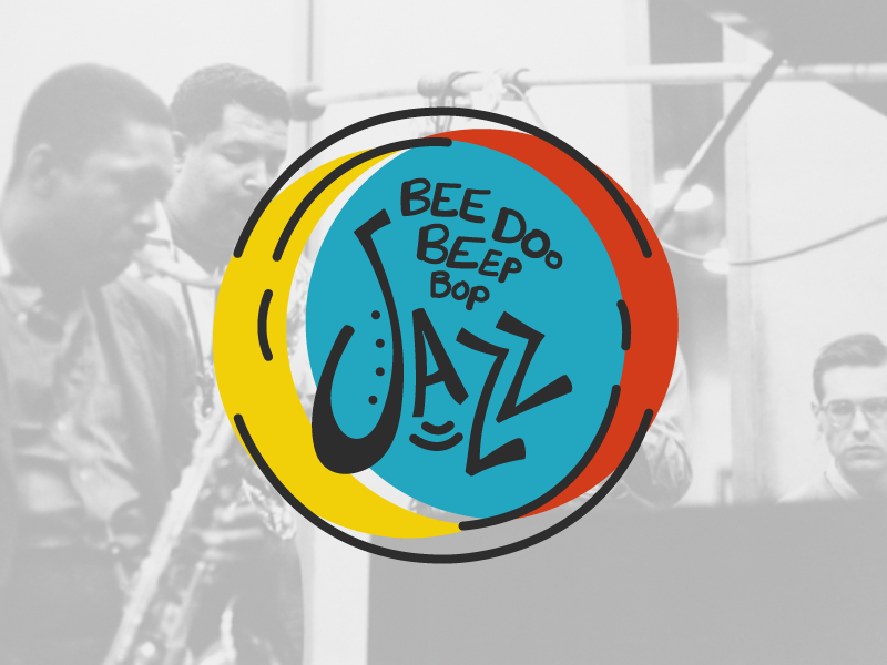 I like Jazz. hand-lettering typography color jazz sticker