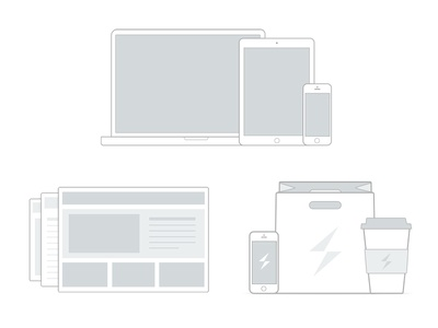 FreshSparks Services Icons icons services illustration vector art grayscale