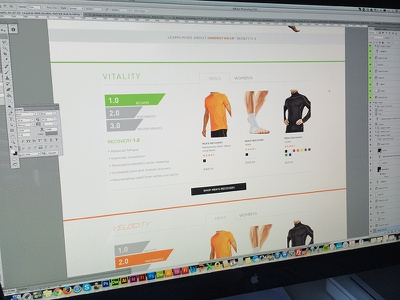 Athletic eCommerce Site ecommerce athletic web design rwd responsive