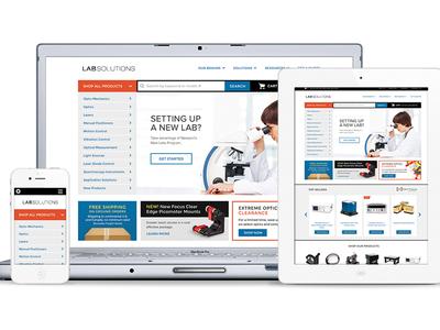 Science & Technology eCommerce Site web design responsive web design rwd ecommerce science technology