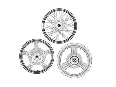 Harley Wheels Illustration illustration motorcycle harley hd wheels