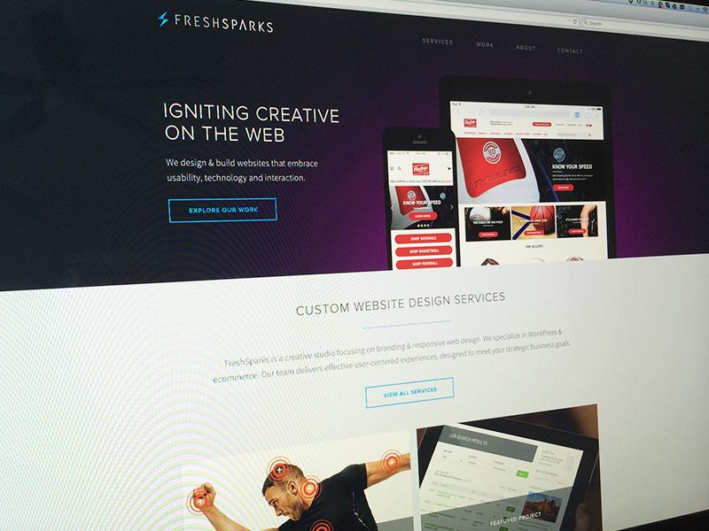 FreshSparks Website web design responsive portfolio website