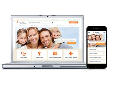 Healthcare Website Concept Design concept healthcare user experience ux web design responsive responsive web design mobile icons