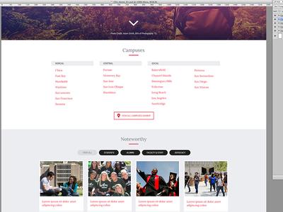 University Website Concept web design responsive portfolio website college website concept