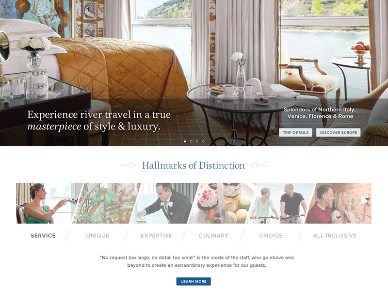 Travel Website Design website design travel luxury travel website css