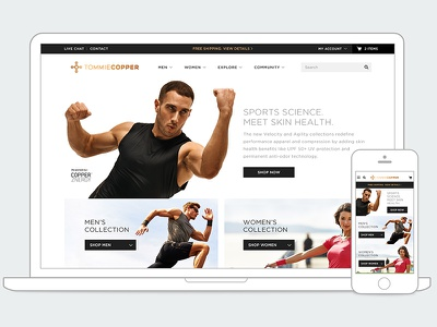 Tommie Copper responsive web design rwd user experience ux magento web design website design ecommerce