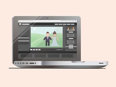Macbook Pro gradient adobe laptop computer illustration wedding photography lightroom macbook pro pro macbook