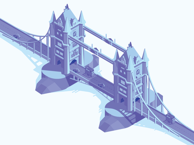 London Bridge illustration bridge london isometric iso