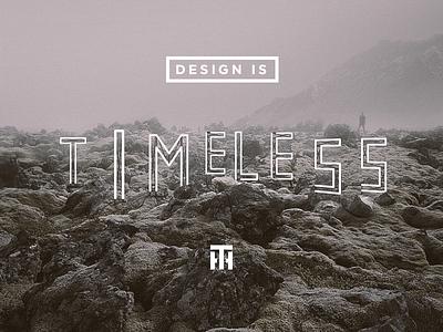 Design is timeless neon sign iceland landscape fog