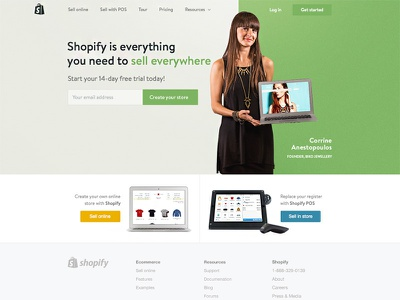 Shopify Redesign shopify home homepage index marketing merchant