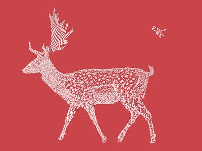 Deer / Shika deer art line illustration