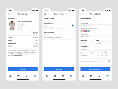 Daily UI #002: Credit Card Checkout visual design brand design ux design ui design product design