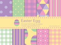 Easter Egg digital scrapbook papers