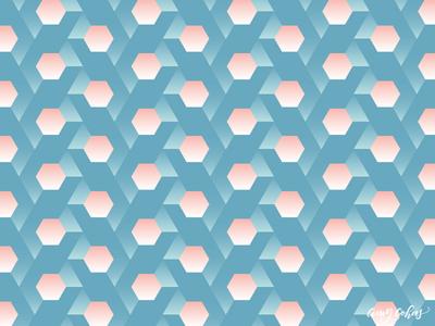 Glowing Hexagons Pattern