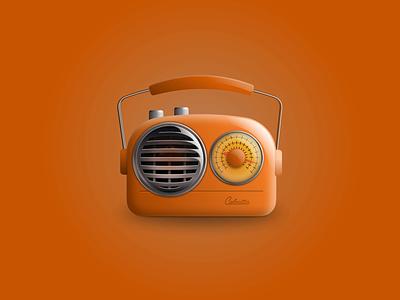 Retro Radio Skeuomorphism sound speaker motion graphics after effects figma animation colour gradient music radio retro radio retro skeuomorphic skeuomorphism faux 3d 3d illustration design