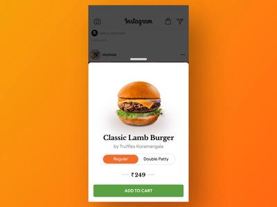 Order Food on Instagram - Concept