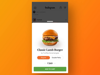 Order Food on Instagram - Concept