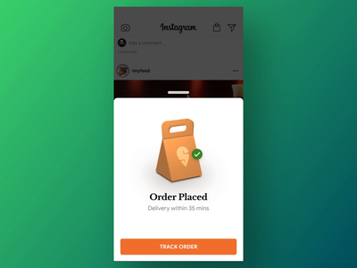 Buy Food on Instagram - Checkout 3d swiggy instagram gif motiondesign checkout packing foodapp food burger after effects design ux ui