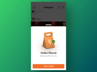 Buy Food on Instagram - Checkout