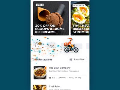 Swiggy Splash Screen - New Year 🎉 loading app food motion design after effects santaclaus christmas swiggy gif ux ui new year splash