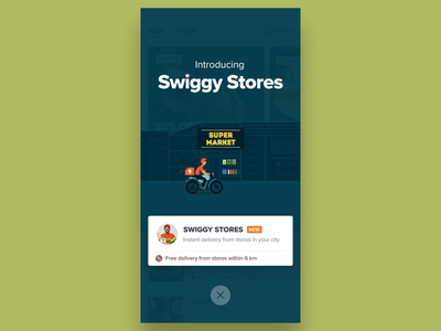 Introducing Swiggy Stores design food after effects motiondesign animation gif walkthrough onboarding ux ui doordash delivery stores swiggy
