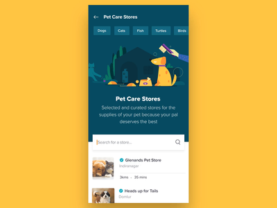 Swiggy Stores - Pet Care swiggy brush pet dog design illustration motion prototype after effects animation ux ui gif