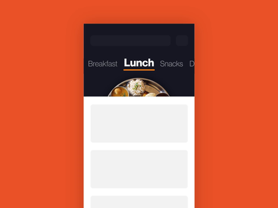 Contextual Tabs app motion ios design swiggy prototype gif spin plate food tabs after effects animation ux ui