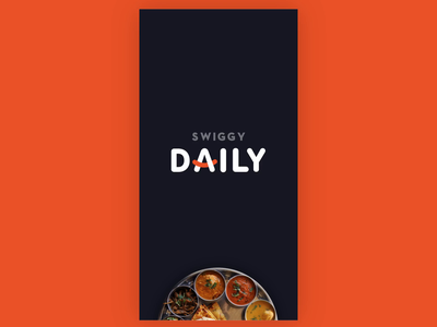 Splash Screen - Home tabs plate design mobile swiggy food motion design prototype animation after effects splash screen gif ux ui