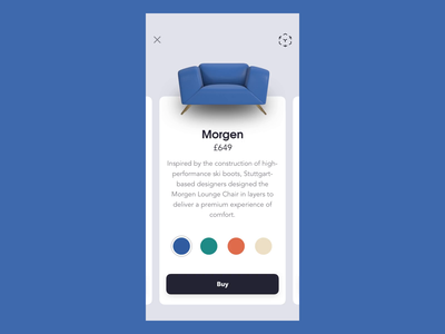Furniture Shopping - AR View ux ui augmentedreality ar gif furniture ecommerce shopping design chair c4d animation aftereffects 3d