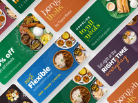 Swiggy Daily - Merchandising Cards graphic font pairing colourful ads carousel merchandising food design swiggy after effects animation ui ux gif