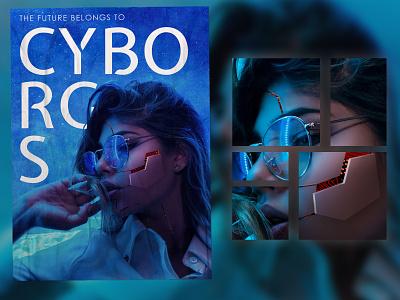 Cyborg Girl Poster futuristic movie poster cyborg poster scifi poster cyborg poster design design adobephotoshop