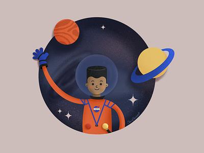 The astronaut procreate illustration art illustration digital painting digital illustration digitalartist digital art digitalart