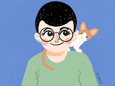 A quick sketch sketch sphynx kitty cat selfie self portrait self-portrait freehand drawing procreate illustration art illustration digital painting digital illustration digitalartist digital art digitalart