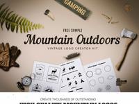 Freebie mountain outdoor logo kit prezenmtare
