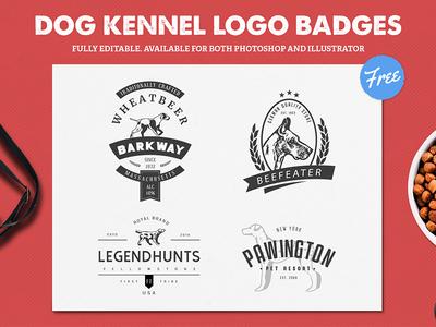Dog Kennel Logo Badges Freebie