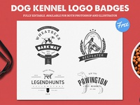 Dog Kennel Logo Badges Freebie