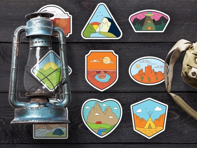 American National Parks Stickers