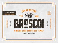Broscoi - Vintage Font Family