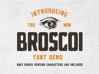 Broscoi - Free Vintage Font Demo