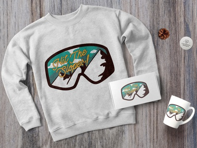 Vintage Snowboarding Logo / Winter Mountain Badge SVG