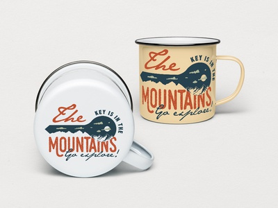 Mountain Key Logo Badge - A Mountain Adventure SVG Badge