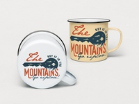 Mountain Key Logo Badge - A Mountain Adventure SVG Badge