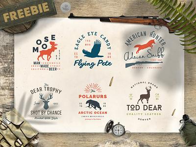 Free Wild Animals Logo Templates / Free Logo Templates free template free logo free vintage logo vintagelogo vintage outdoors wildanimals wild freebadge freelogo freebie free